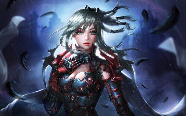 Video Game Final Fantasy XV Final Fantasy Aranea Highwind Girl Green Eyes Grey Hair Woman Warrior HD Wallpaper   Background Image