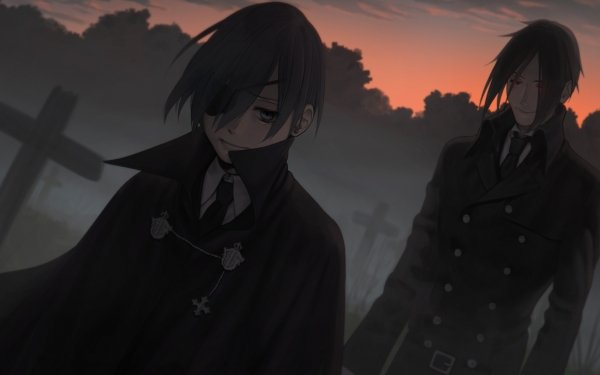 Anime Black Butler Ciel Phantomhive Sebastian Michaelis HD Wallpaper   Background Image