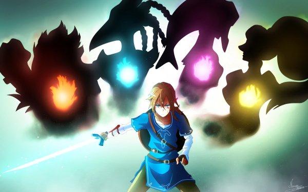 Video Game The Legend of Zelda: Breath of the Wild Zelda Link Urbosa Daruk Revali Mipha HD Wallpaper | Background Image