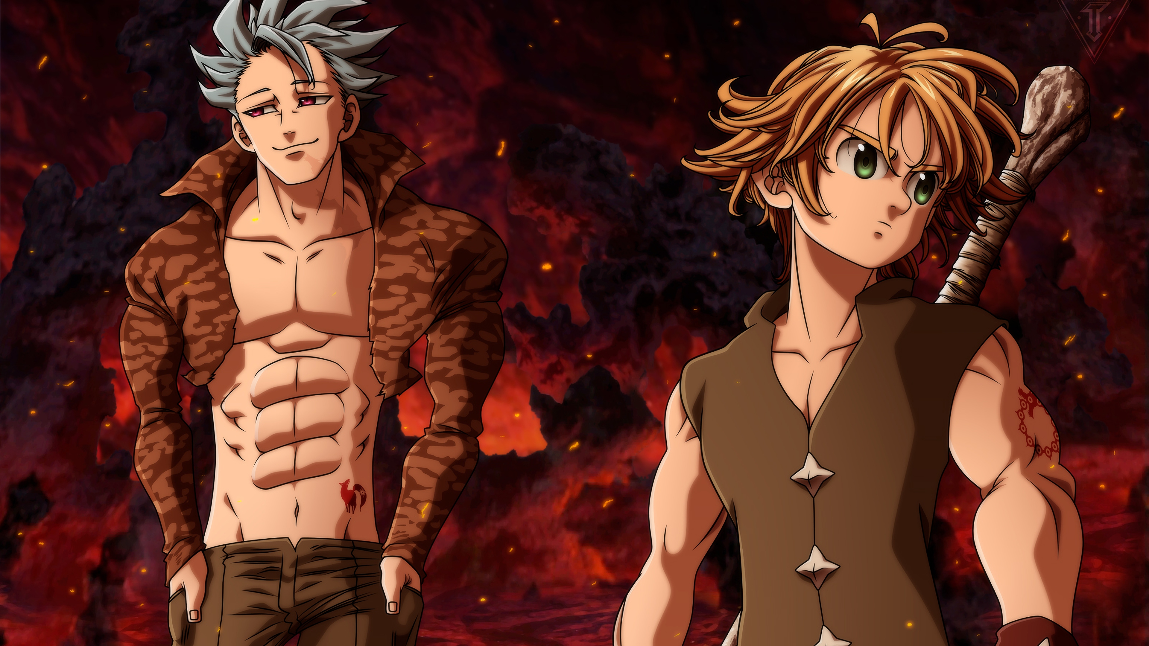 The Seven Deadly Sins 4k Ultra Hd Wallpaper Background Image