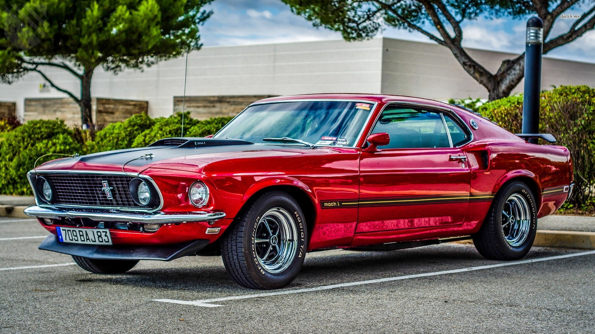 1969 Ford Mustang Mach 1 Hd Wallpaper Background Image 1920x1080