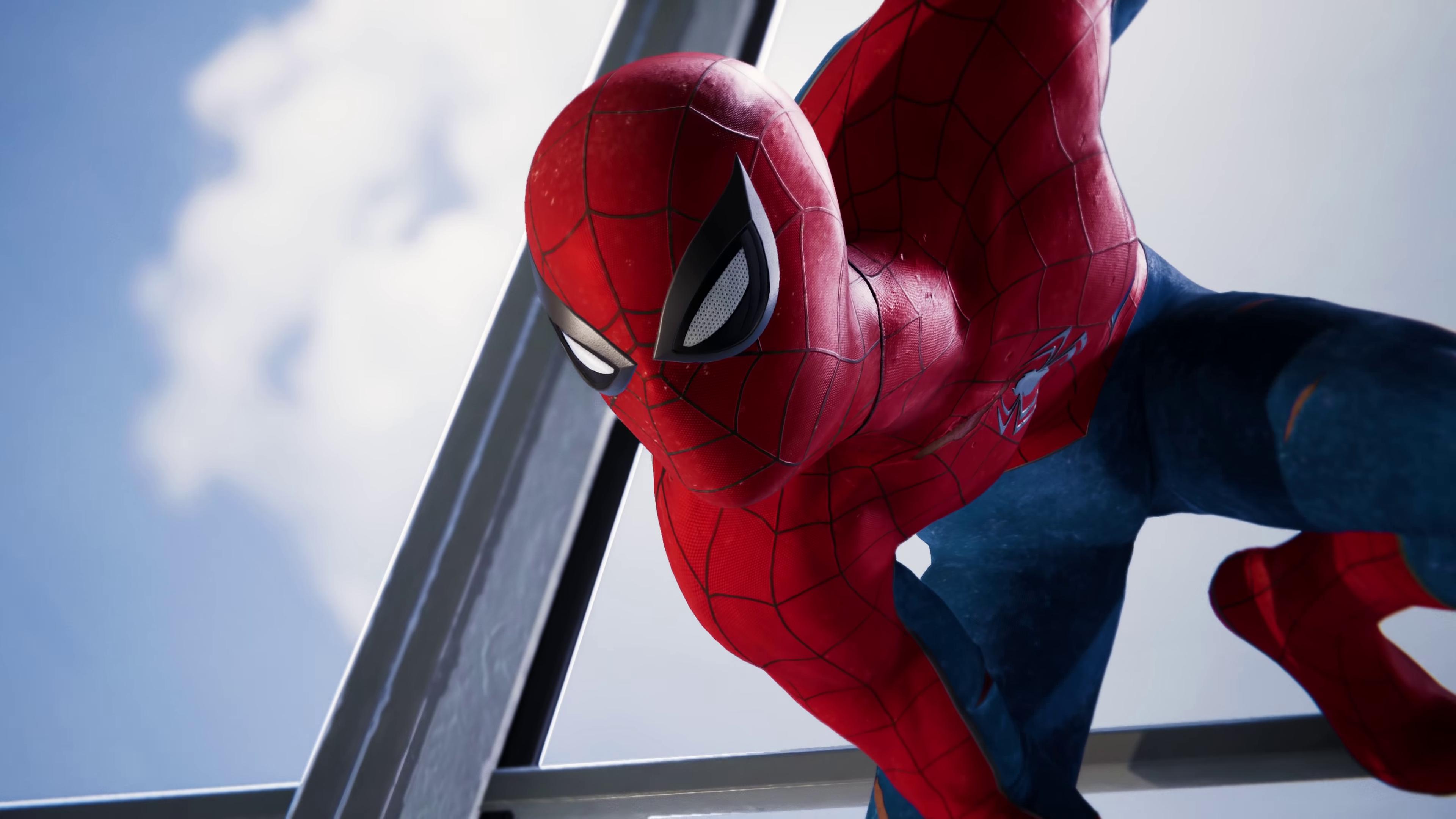 Spider Man Ps4 Classic Suit Wallpaper 4k Ultra Hd Wallpaper