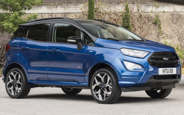 Vehicles Ford EcoSport ST-Line Ford Subcompact Car Crossover Car SUV Blue Car Car HD Wallpaper | Background Image