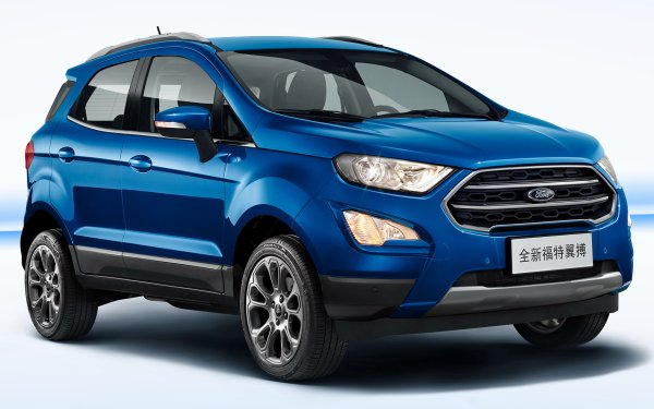 Vehicles Ford EcoSport Titanium Ford Subcompact Car Crossover Car SUV Blue Car Car HD Wallpaper | Background Image