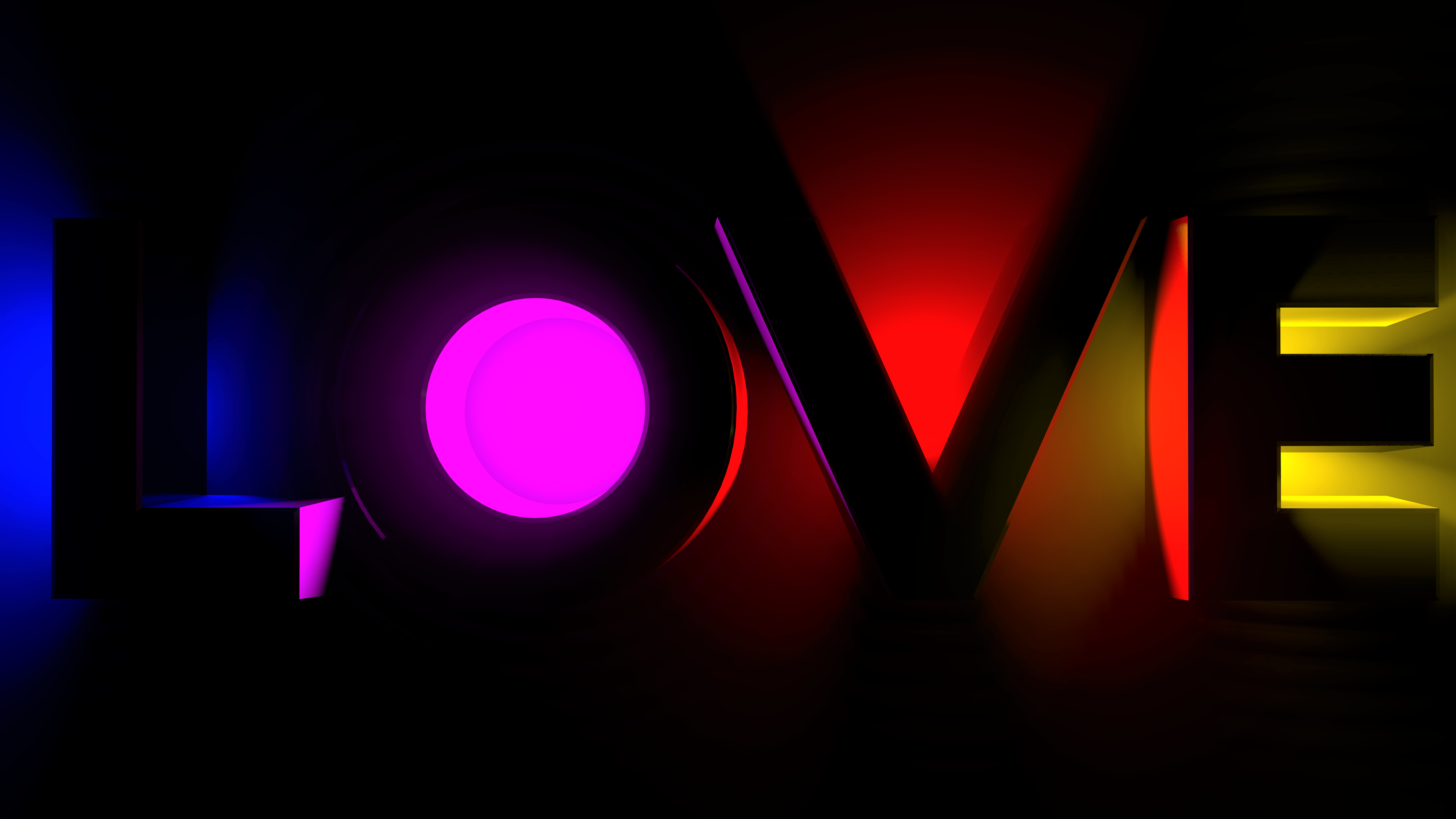 Neon Love 4k Ultra Hd Wallpaper Background Image 3840x2160 Id 937491 Wallpaper Abyss