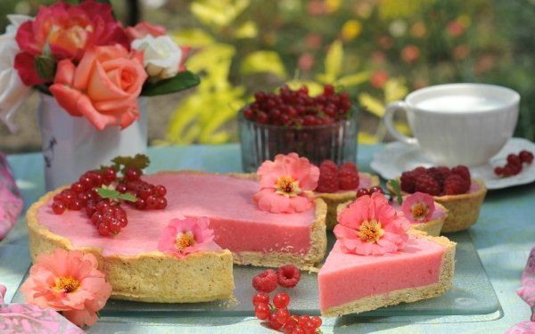 Food Cake Pastry Dessert Still Life Currants HD Wallpaper | Background Image