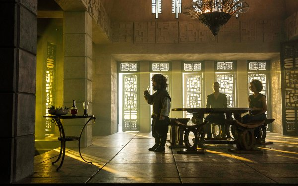 TV Show Game Of Thrones Tyrion Lannister Grey Worm Missandei Peter Dinklage Nathalie Emmanuel Jacob Anderson HD Wallpaper | Background Image