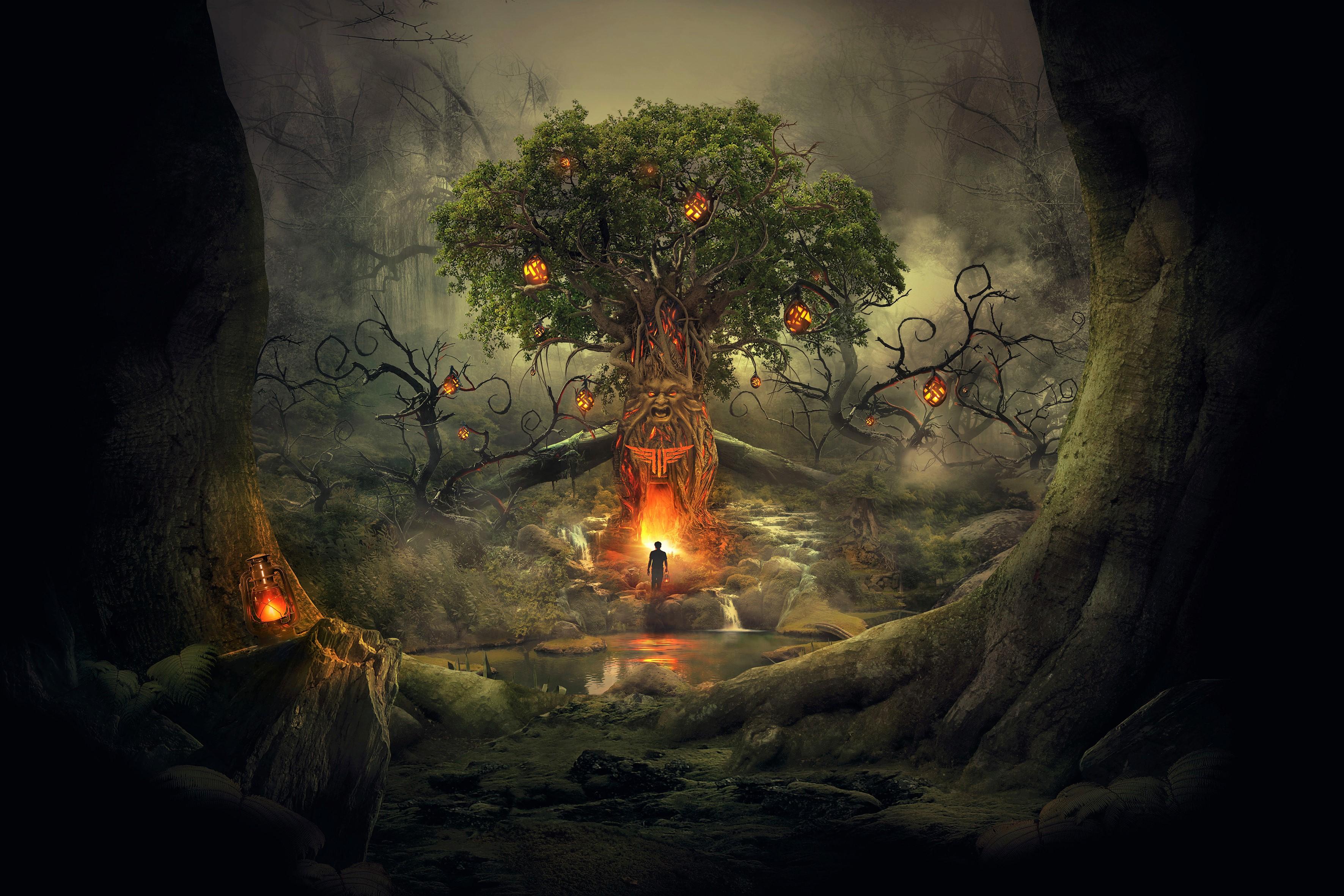 Tree Of Eternal Life Hd Wallpaper Background Image 3543x2362