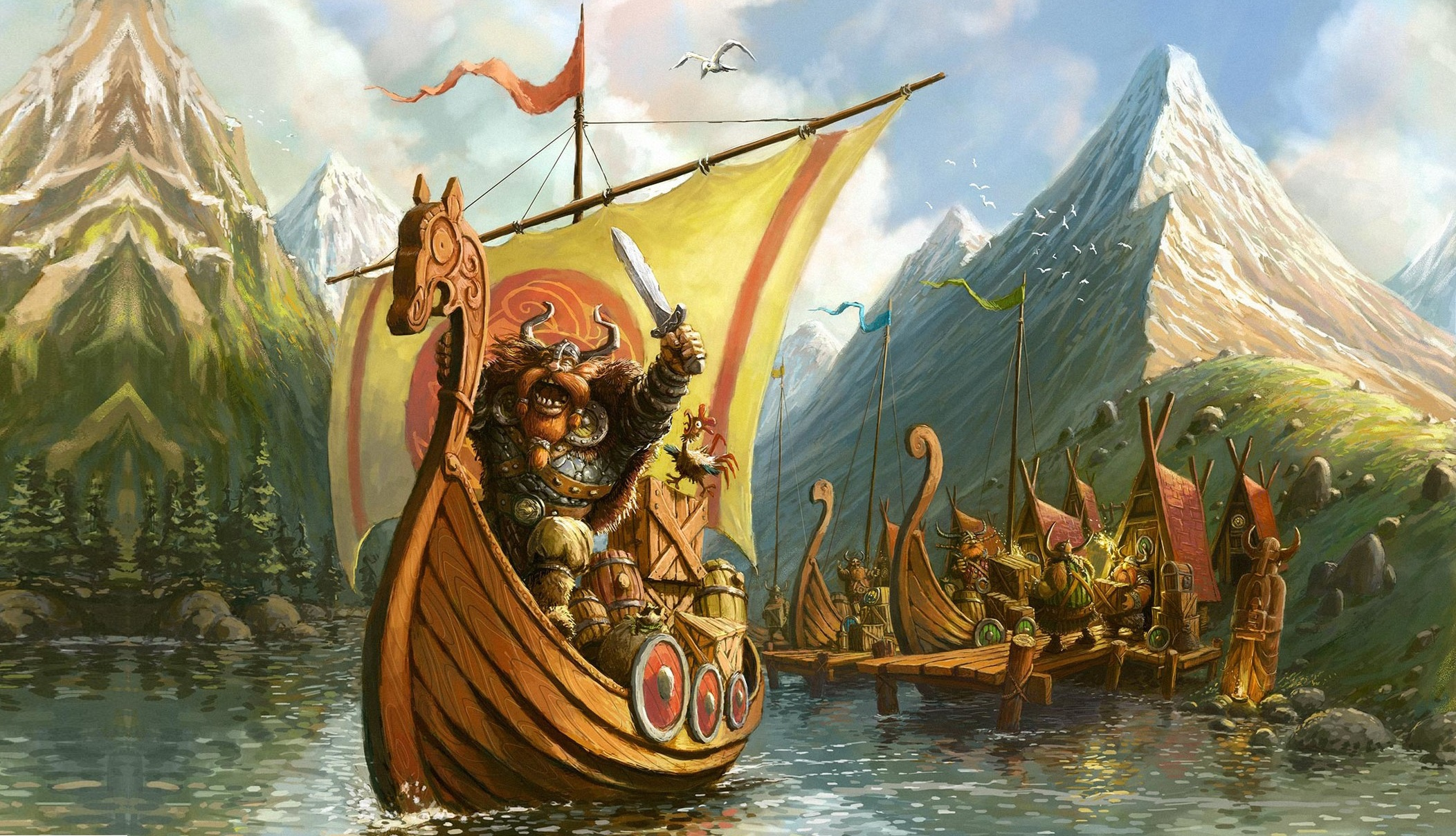 Viking HD Wallpaper | Background Image | 2104x1208 | ID ...