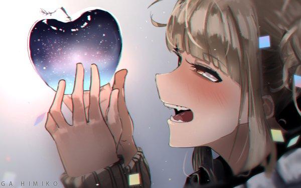 Anime My Hero Academia Himiko Toga Blush Yellow Eyes Blonde Apple Fangs HD Wallpaper | Background Image