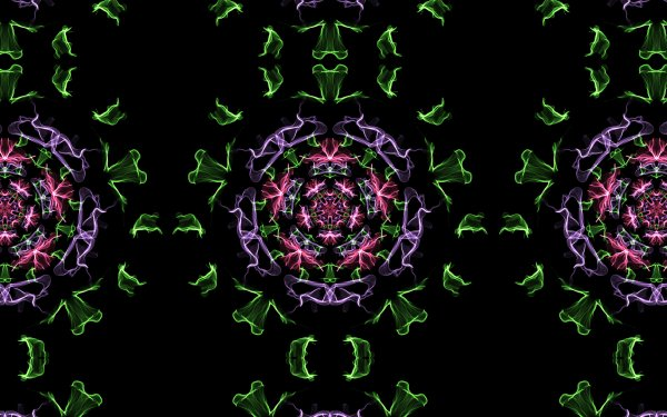 Abstract Kaleidoscope Artistic Digital Art Colors Pattern Generative HD Wallpaper | Background Image