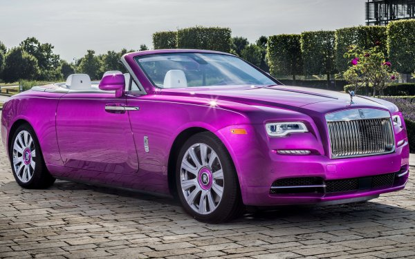 Véhicules Rolls-Royce Dawn Rolls Royce Luxury Car Convertible Grand Tourer Purple Car Voiture Fond d'écran HD | Image