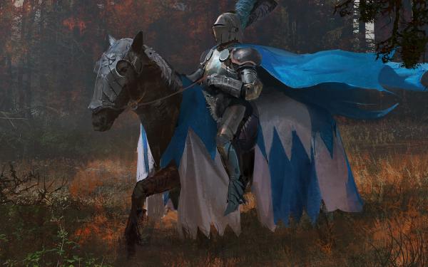 Fantaisie Chevalier Guerrier Cheval Armor Fond d'écran HD | Arrière-Plan
