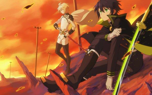 Anime Seraph of the End Mikaela Hyakuya Yūichirō Hyakuya HD Wallpaper | Background Image