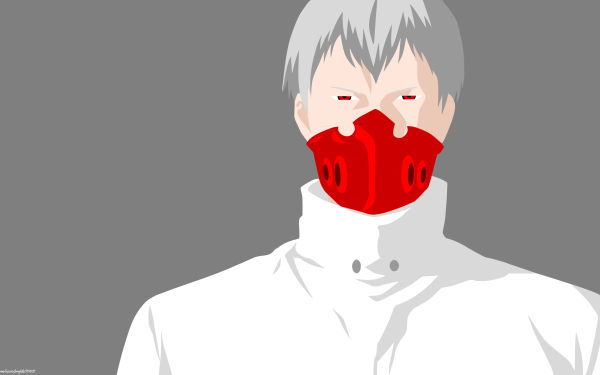 Anime Tokyo Ghoul:re Tatara White Hair Boy Minimalist Mask Red Eyes Tokyo Ghoul Tokyo Ghoul √A HD Wallpaper   Background Image