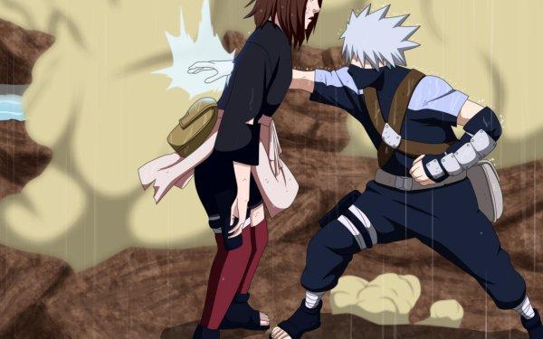 Anime Naruto Kakashi Hatake Rin Nohara HD Wallpaper | Background Image