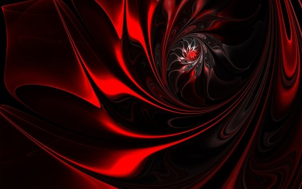 Abstract Fractal Red Swirl HD Wallpaper | Background Image