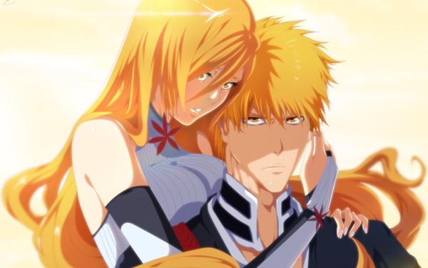 Anime Bleach Ichigo Kurosaki Orihime Inoue HD Wallpaper   Background Image
