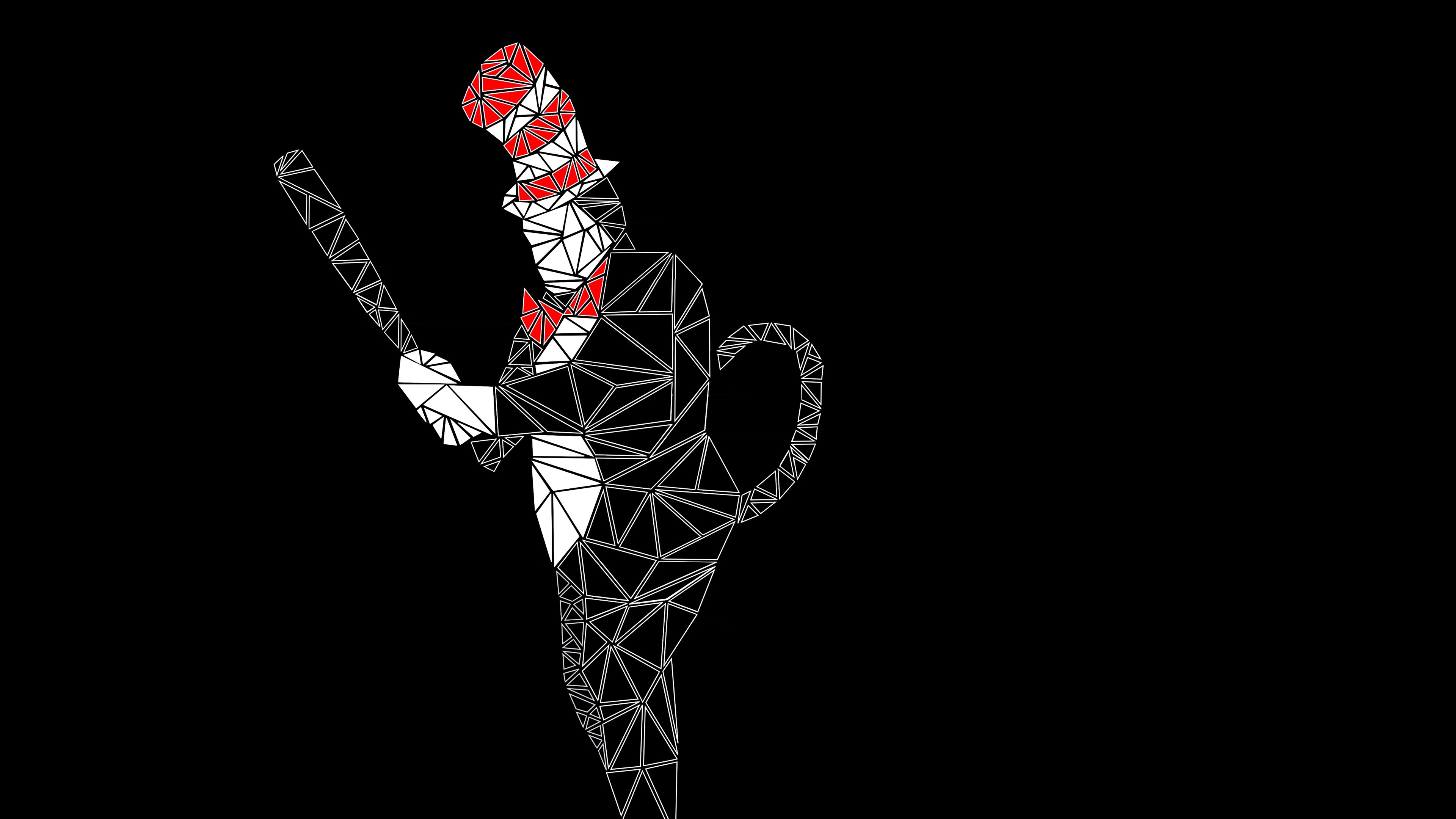 Triangle Cat In The Hat 4k Ultra Hd Wallpaper Background Image