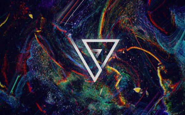 Abstrakt Künstlerisch Formen Colorful Farben Polyscape HD Wallpaper | Hintergrund