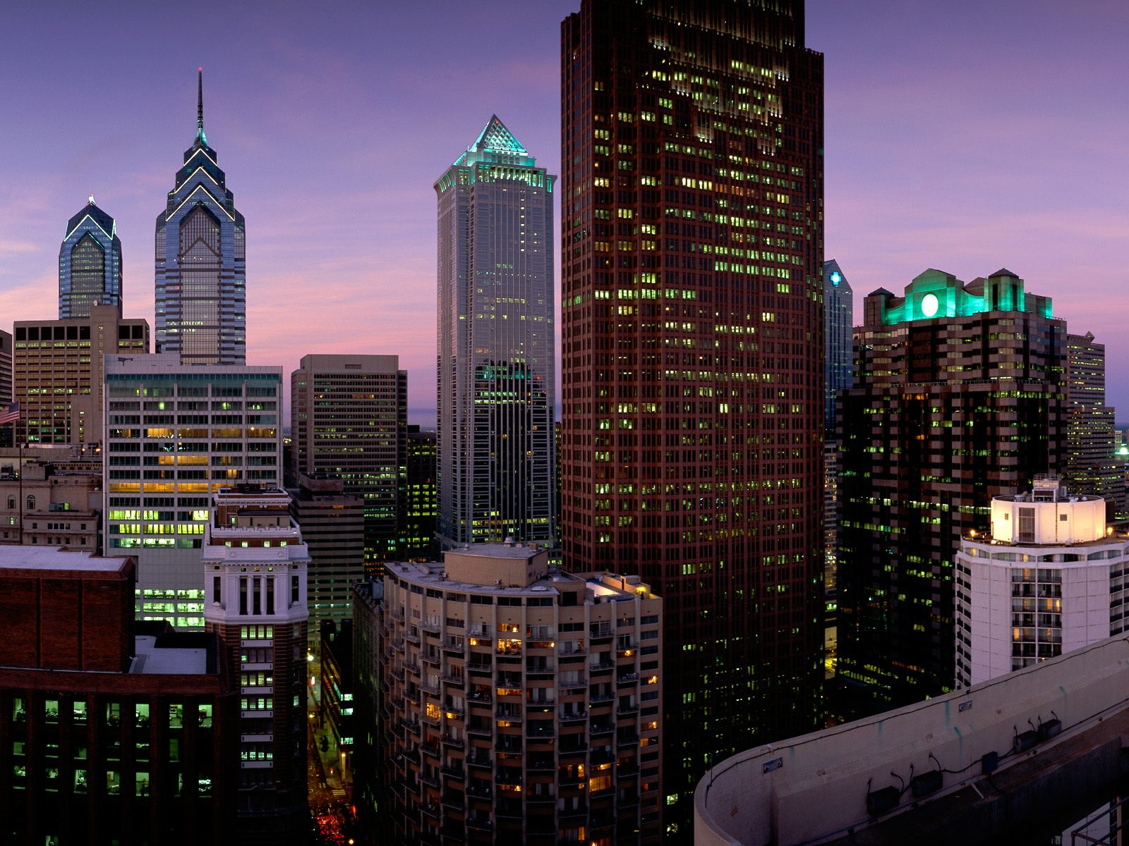 Обои филадельфия, philadelphia, ночь, сша. Города foto 17