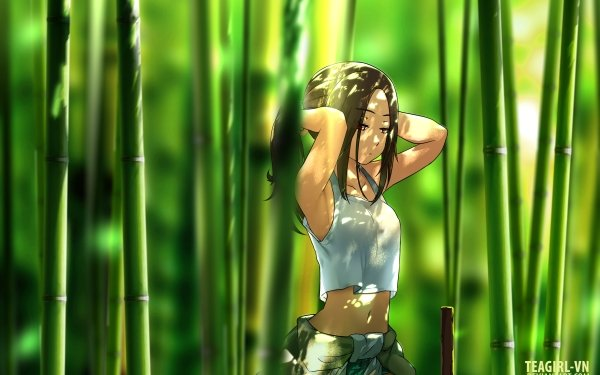 Anime Original Bamboo Forest HD Wallpaper   Background Image