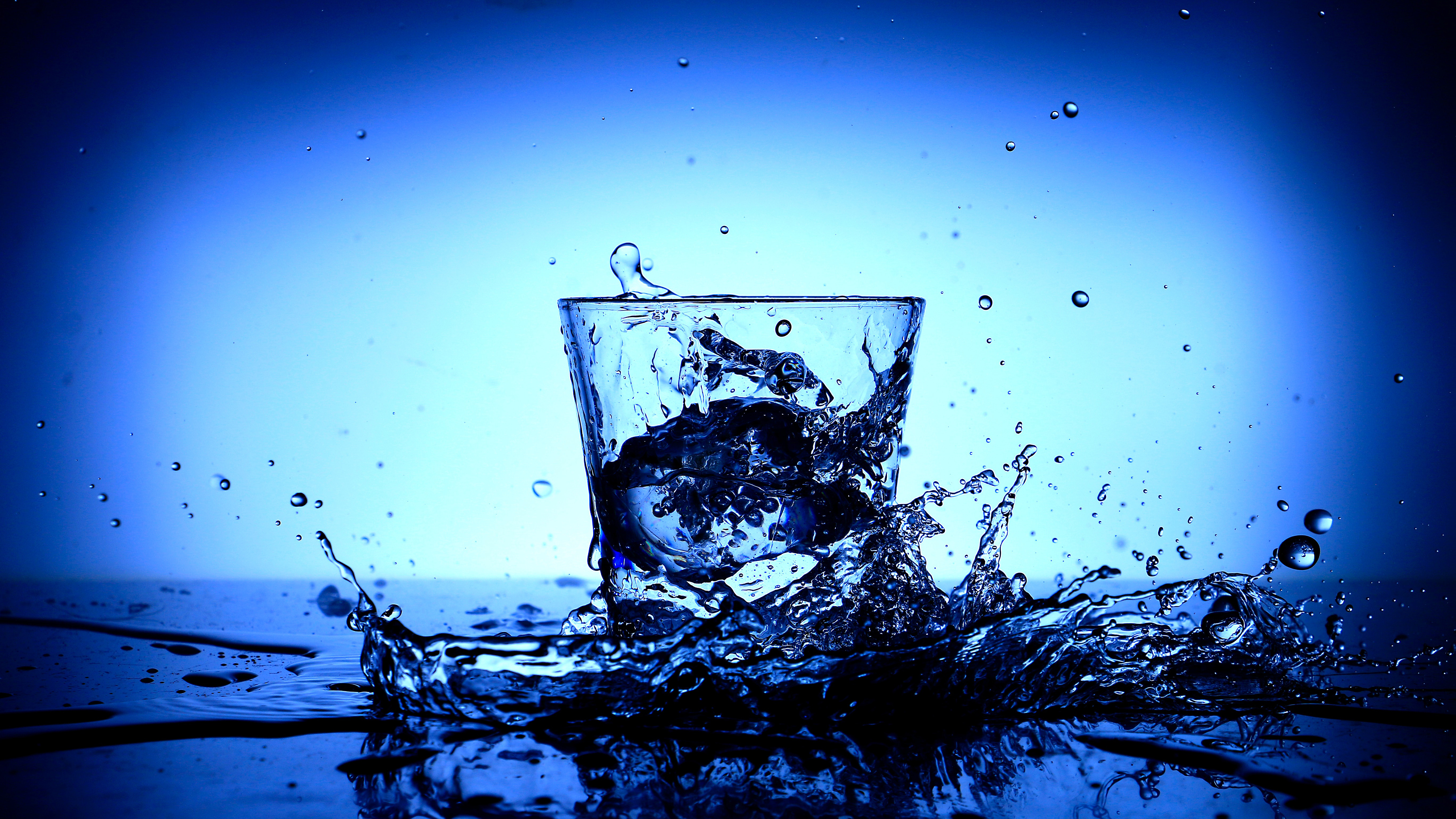 Glass Water Splash 5k Retina Ultra Hd Wallpaper Background Image