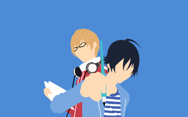 Anime Bakuman Moritaka Mashiro Akito Takagi Fond d'écran HD | Arrière-Plan