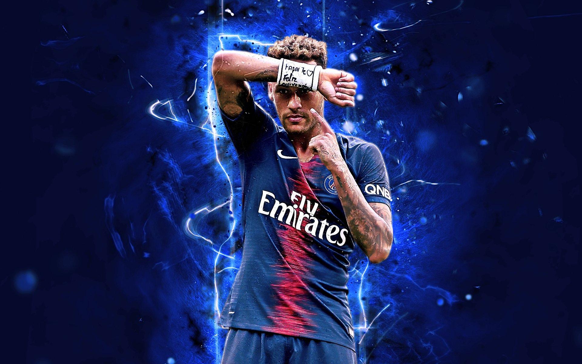 футбол 1 Wallpaper: Neymar Jr - PSG HD Обои