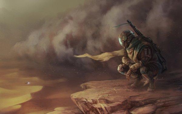 Sci Fi Star Wars Bounty Hunter Desert HD Wallpaper | Background Image