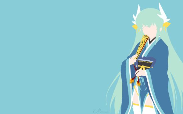 Anime Fate/Grand Order Fate Series Kiyohime Berserker Fate Minimalist Green Hair HD Wallpaper | Background Image