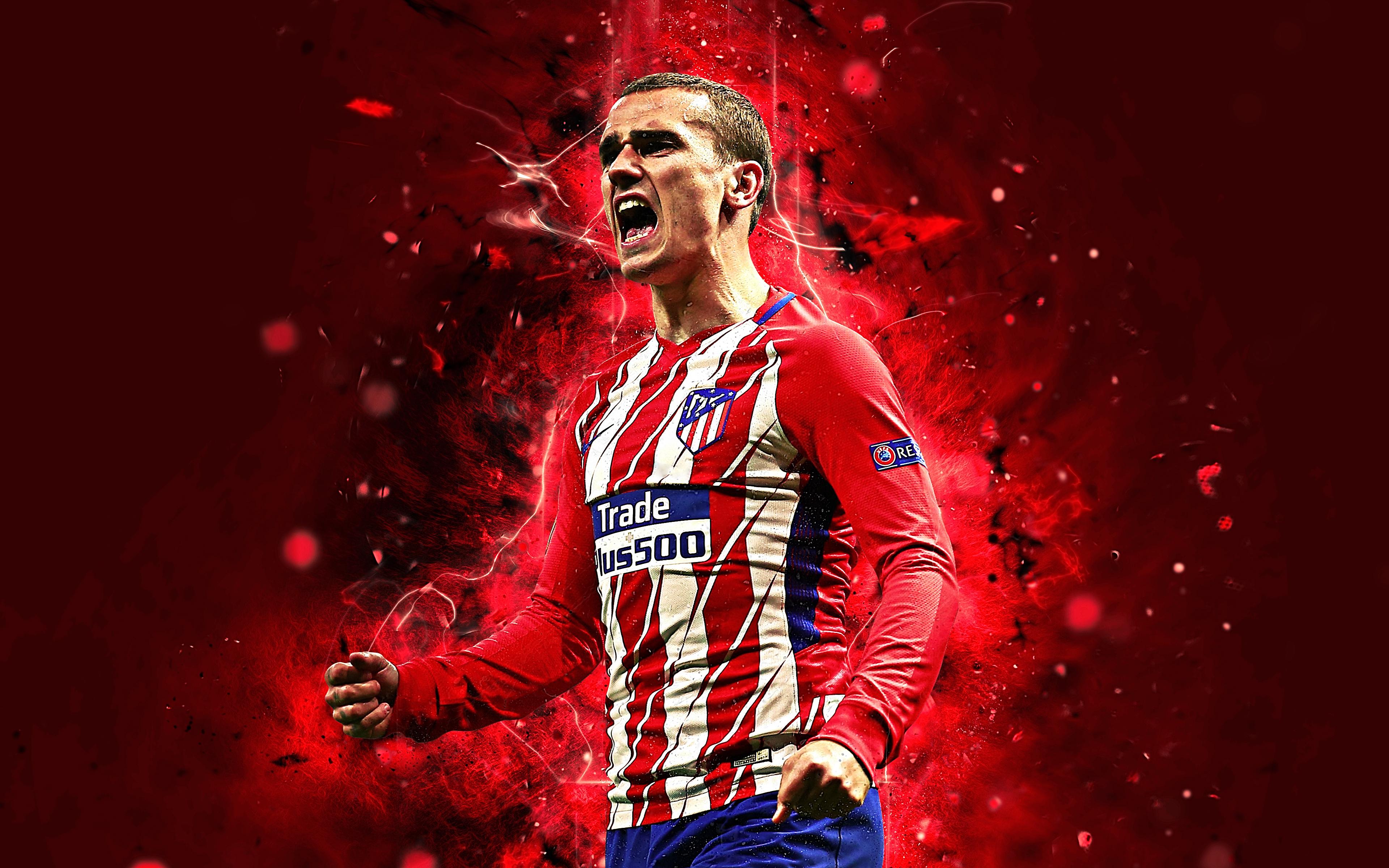 Antoine Griezmann - Atlético Madrid 4k Ultra 高清壁纸