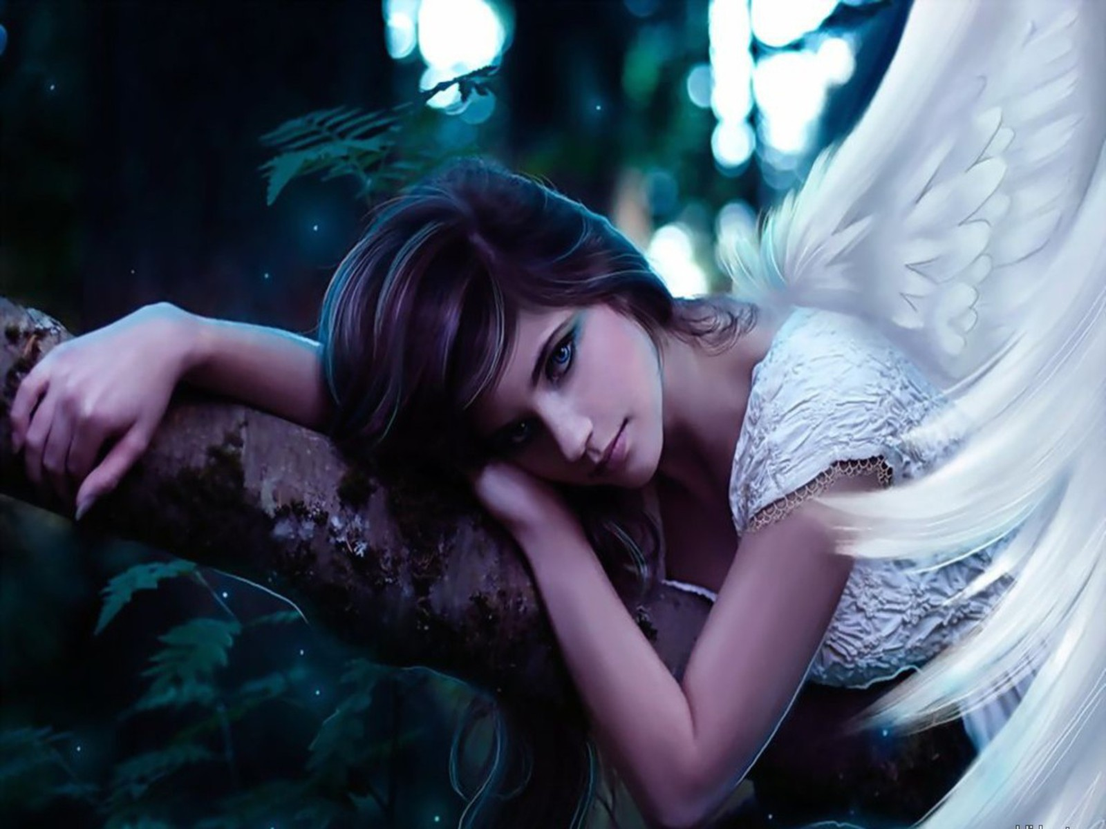 Fantasy - Angel  Woman Wings Model Wallpaper