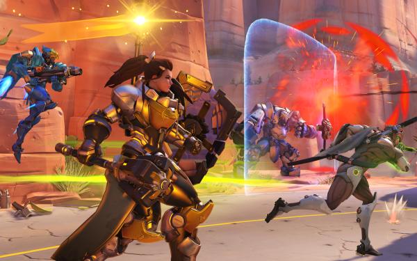 Video Game Overwatch Brigitte Reinhardt Pharah Genji HD Wallpaper   Background Image
