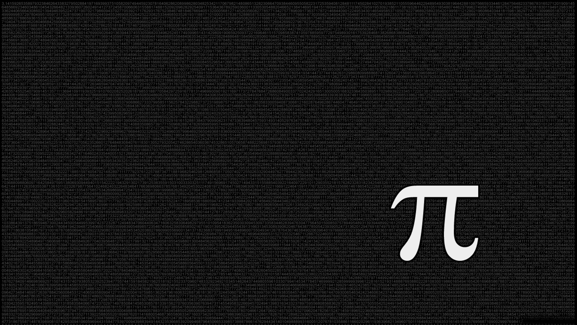 Diversen - Math  Pi Wallpaper