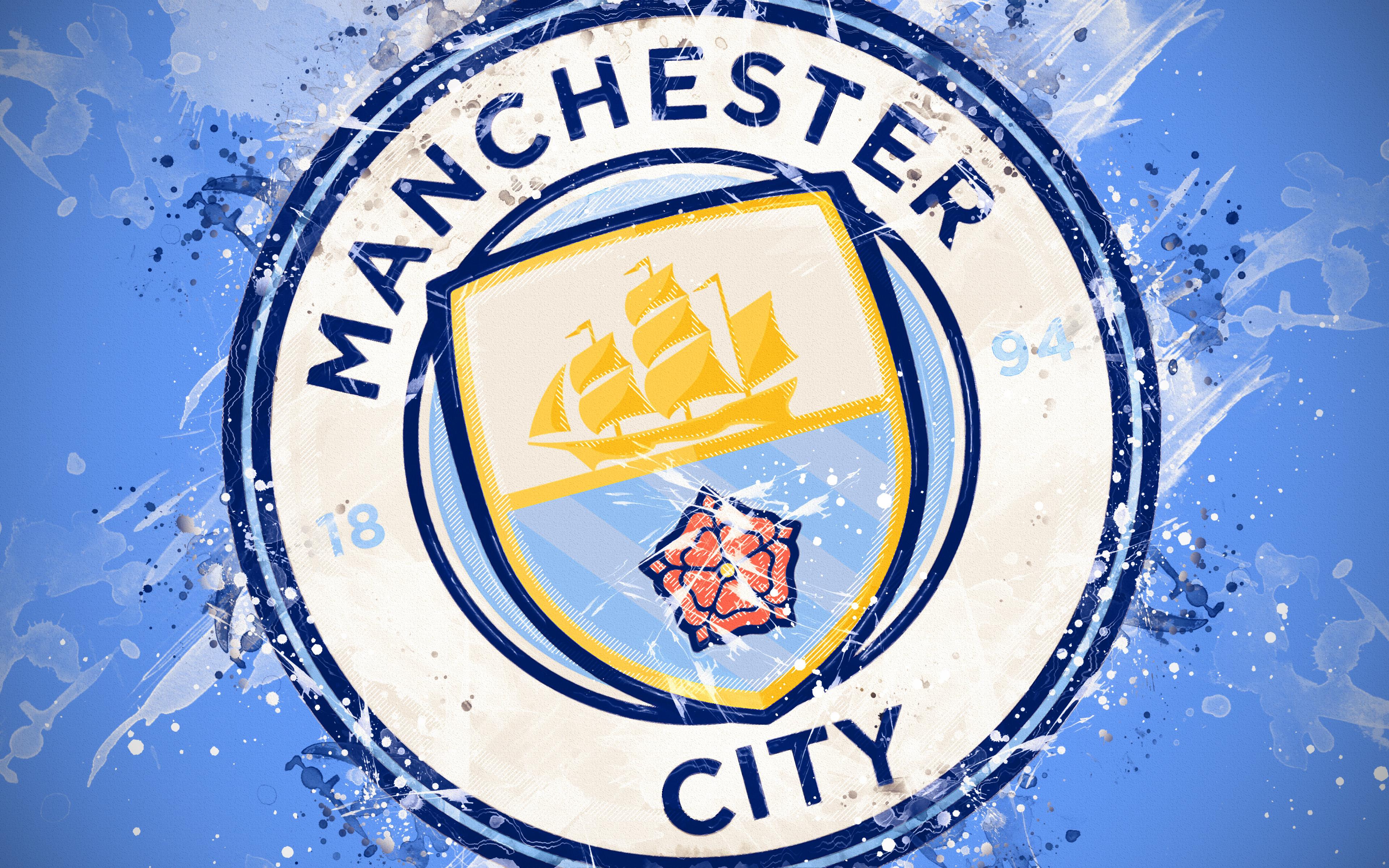 Manchester City Logo 4k Ultra Fondo De Pantalla Hd Fondo
