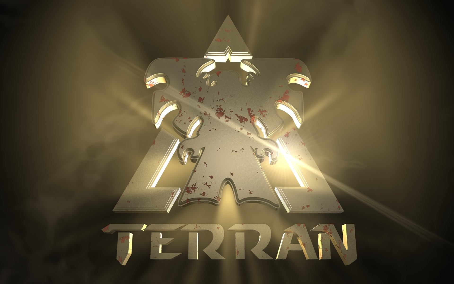Video Game - Starcraft  Logo Terran Wallpaper