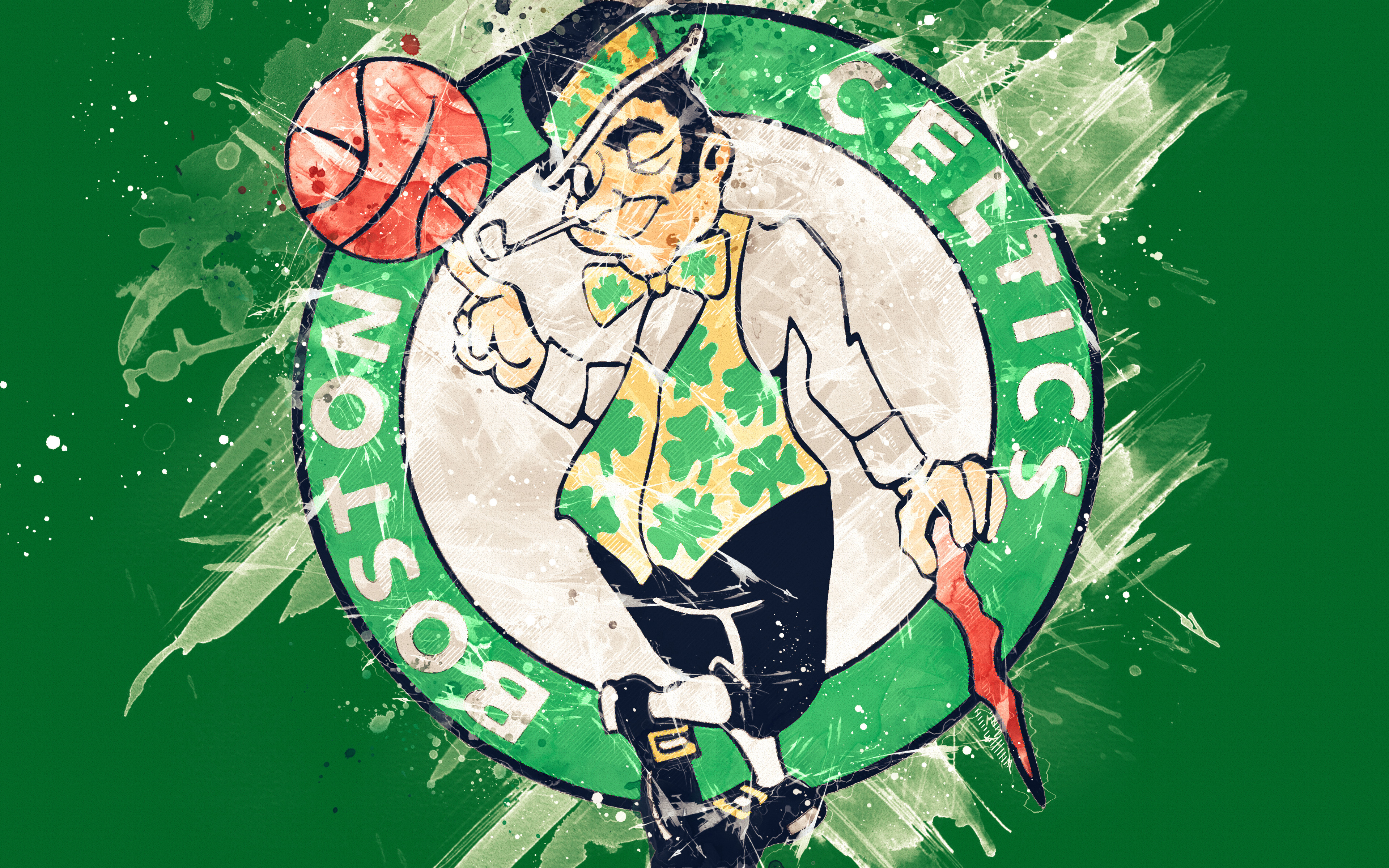 Boston Celtics Logo 4k Ultra Hd Wallpaper Background Image 3840x2400 Id 971328 Wallpaper Abyss