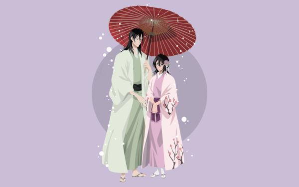 Anime Bleach Byakuya Kuchiki Hisana Kuchiki HD Wallpaper | Background Image