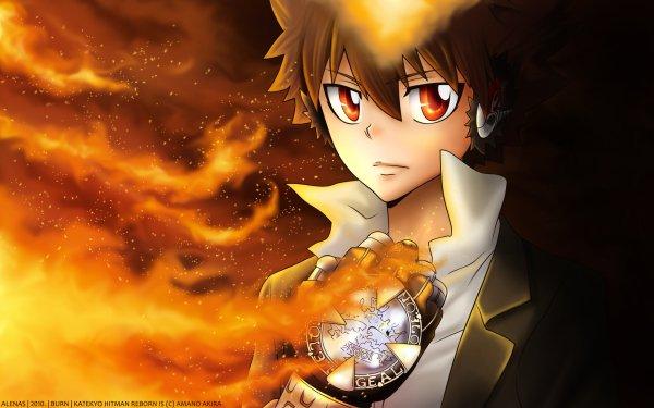 Anime Katekyō Hitman Reborn! Tsunayoshi Sawada HD Wallpaper   Background Image