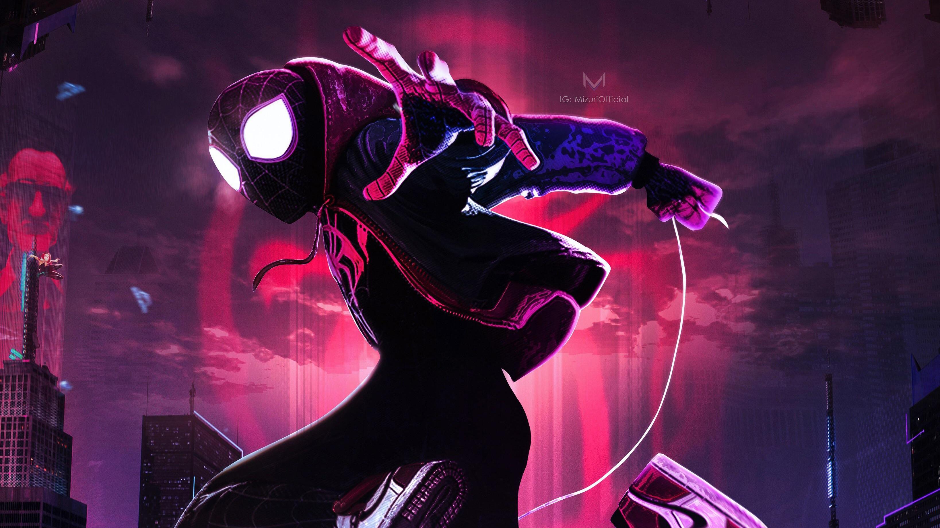 Wallpaper Spider Man 2099 Fan Art 4k Creative Graphics: Miles Morales HD Wallpaper