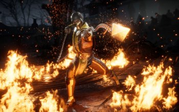ultra hd mortal kombat x scorpion wallpaper