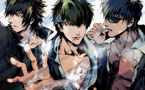 Anime Crossover Gintama Final Fantasy XV Trigun Hijikata Toshizō Noctis Lucis Caelum Nicholas D. Wolfwood Fondo de pantalla HD | Fondo de Escritorio