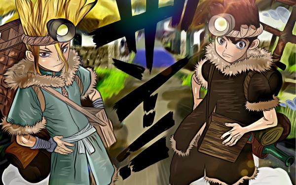 Anime Dr. Stone Taiju Oki Senku Ishigami HD Wallpaper | Background Image
