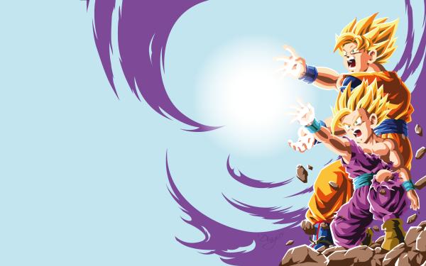 Anime Dragon Ball Z Dragon Ball Goku Gohan Kamehameha HD Wallpaper | Background Image