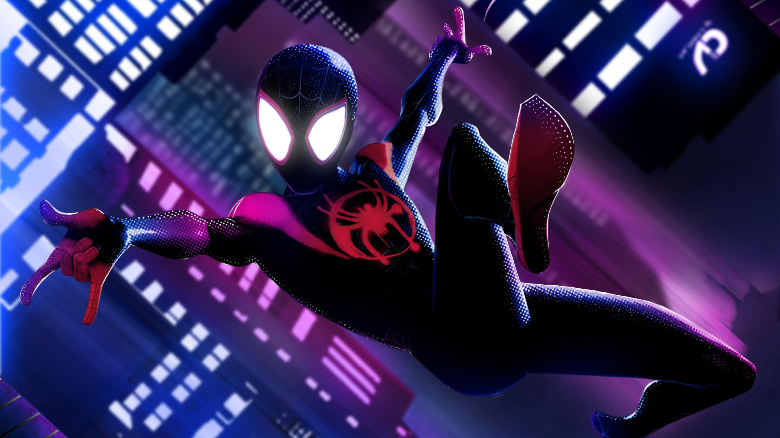 Spider Man Into The Spider Verse Hd Wallpaper Background