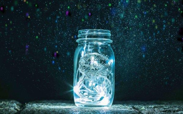 Man Made Bottle Light HD Wallpaper | Background Image