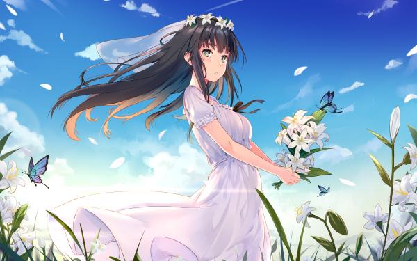Anime Flowers Shirahane Suou HD Wallpaper   Background Image