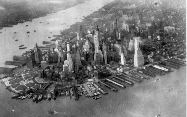 Man Made Manhattan Cities United States Historic Skyline New York HD Wallpaper | Background Image