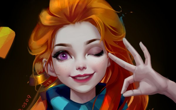 Video Game League Of Legends Zoe Wink HD Wallpaper | Background Image